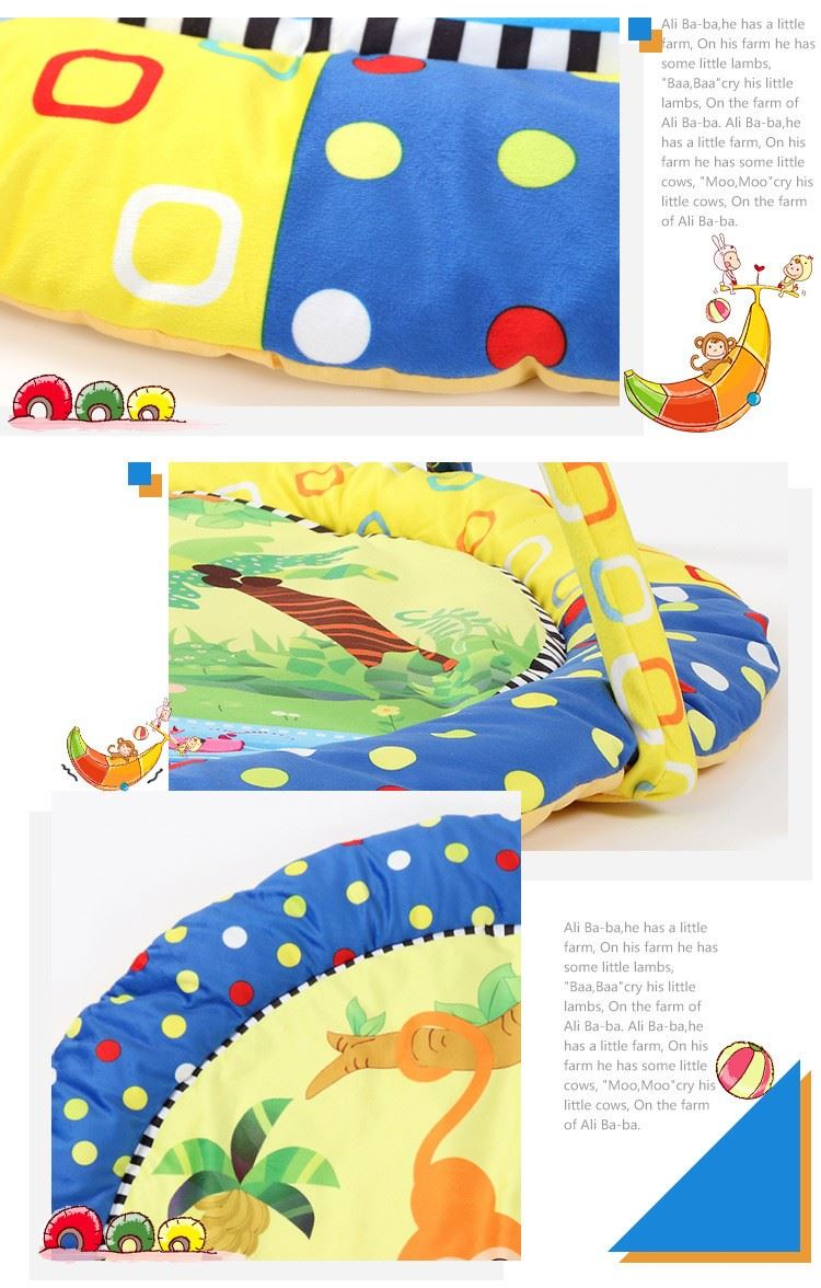 Buy New Arrival Soft Baby Play Mat Music Playmat Educational Farm Style 3
