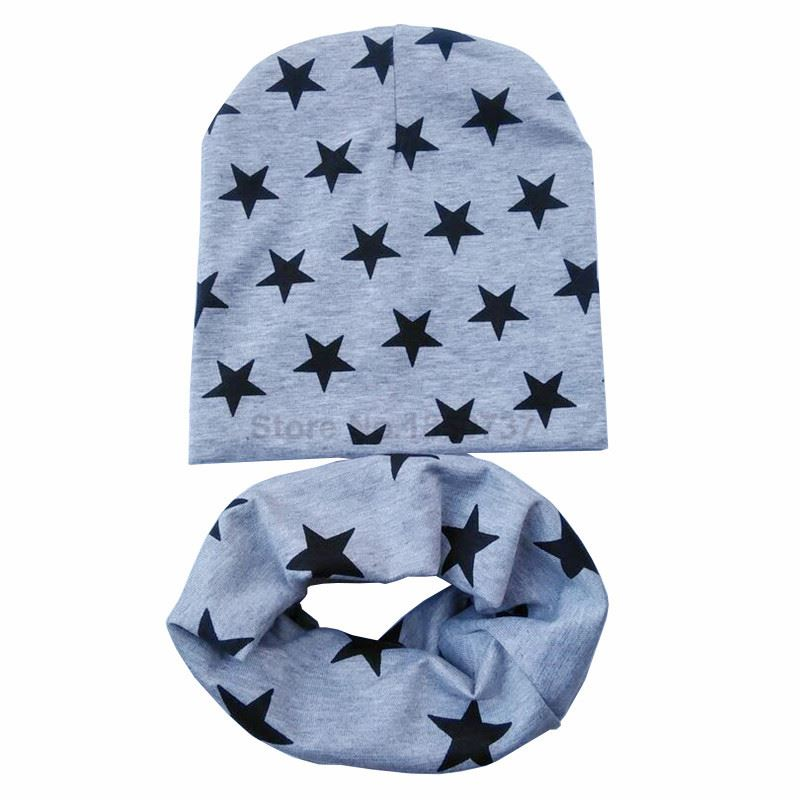 grey stars hat scarves
