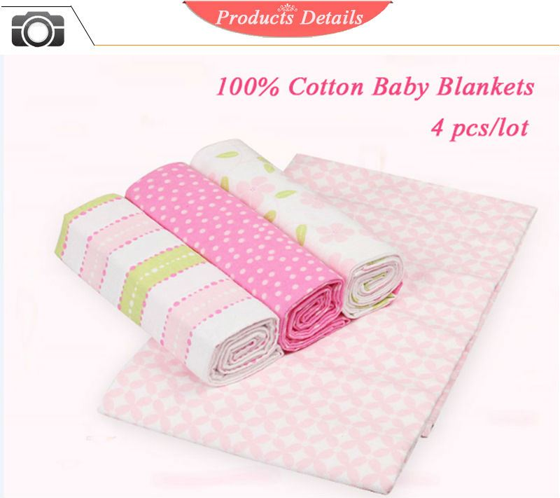 a411513fe3d2 Buy 4PCS PACK 100% Cotton Supersoft Flannel Receiving Baby Blanket ...