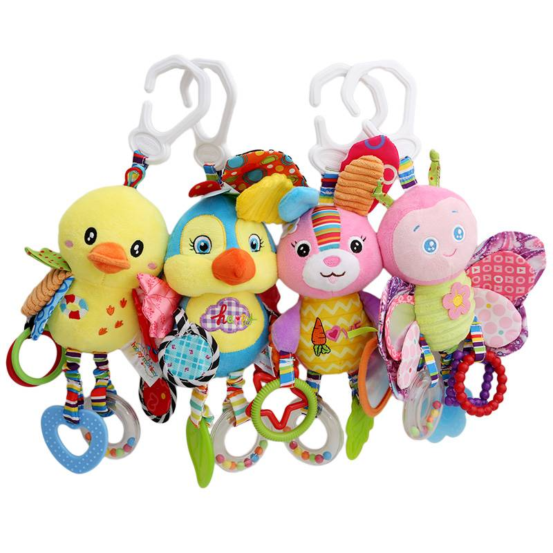 Baby-Animal-Rattles-Toy-Kids-Soft-Butterfly-Bird-Duck-Plush-Toy-Teether-With-Sounds-Infant-Stroller